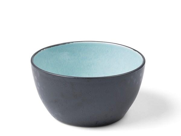 Forskellige BITZ Skål Dia. 14 x 7 cm sort/lysblå - Hans Iversen & Søn KH94